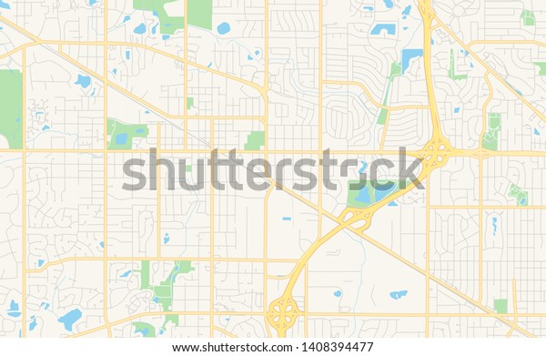 photo regarding Printable Map of Illinois known as Vacant Vector Map Palatine Illinois United states Inventory Vector (Royalty