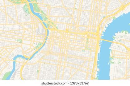 photograph relating to Printable Map of Philadelphia referred to as Imágenes, fotos de inventory y vectores sobre Philadelphia Map