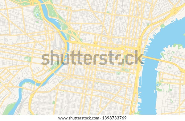 This is a graphic of Printable Map of Philadelphia for tourist