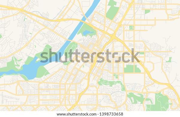 Empty Vector Map Riverside California Usa Stock Vector ...