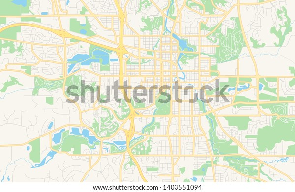picture regarding Printable Map of Minnesota identified as Vacant Vector Map Rochester Minnesota United states of america Inventory Vector