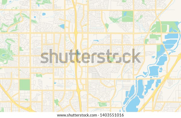 graphic about Printable Map of Colorado named Vacant Vector Map Thornton Colorado United states of america Inventory Vector (Royalty
