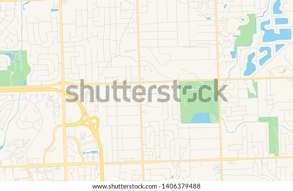 picture regarding Printable Map of Michigan titled Vacant Vector Map Troy Michigan United states Inventory Vector (Royalty