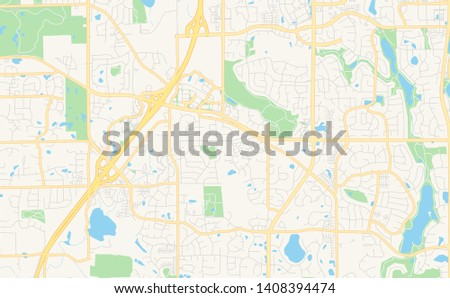 Empty Vector Map Woodbury Minnesota USA Stock Vector (Royalty Free ...