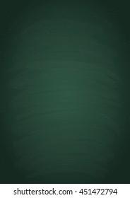 Empty vertical green chalk board texture, vector background