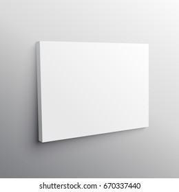 empty wall canvas display mockup vector