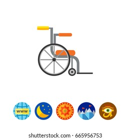 Empty wheelchair icon