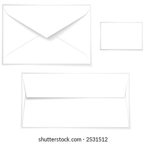 Empty white Envelope Layout for Presentation
