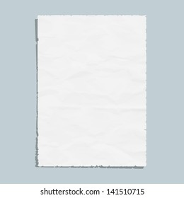 Empty white paper sheet. Vector EPS10