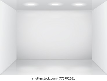 Empty white room interior.