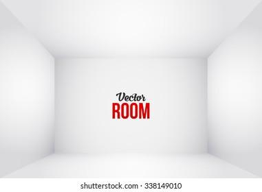 Empty White Room. Interior for Your Design. Vector illustration