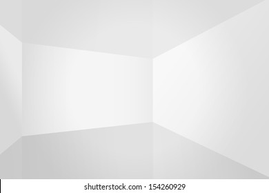 Empty white room space, interior for design and decoration - Vector illustration