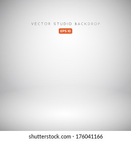 Empty White Studio Backdrop in Vector EPS 10
