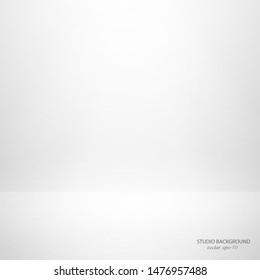 Empty white studio background .Clean background white grey blur light.