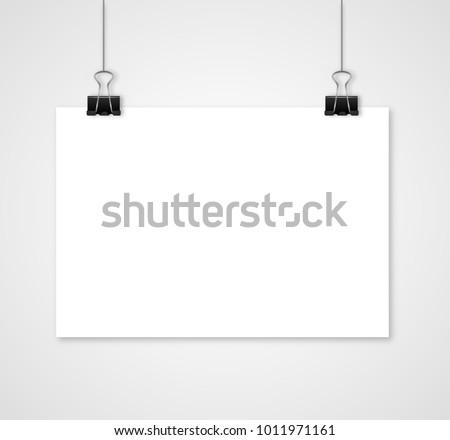 vetor stock de empty white vector horizontal poster template livre