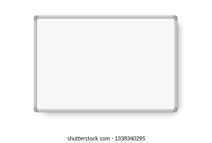 Empty whiteboard magnetic marker with shadow. Vector illustration isolated on white background - Vector