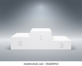 Empty Winners Podium with First, Second and Third Place for Award Ceremony. Vector illustration.