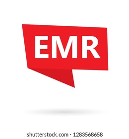 EMR (Electronic Medical Record) acronym on a sticker- vector illustration