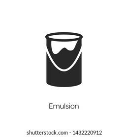 emulsion icon vector. emulsion symbol. Linear style sign for mobile concept and web design. emulsion symbol illustration. Pixel vector graphics - Vector.