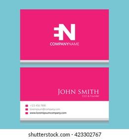 EN Logo | Business Card Template |