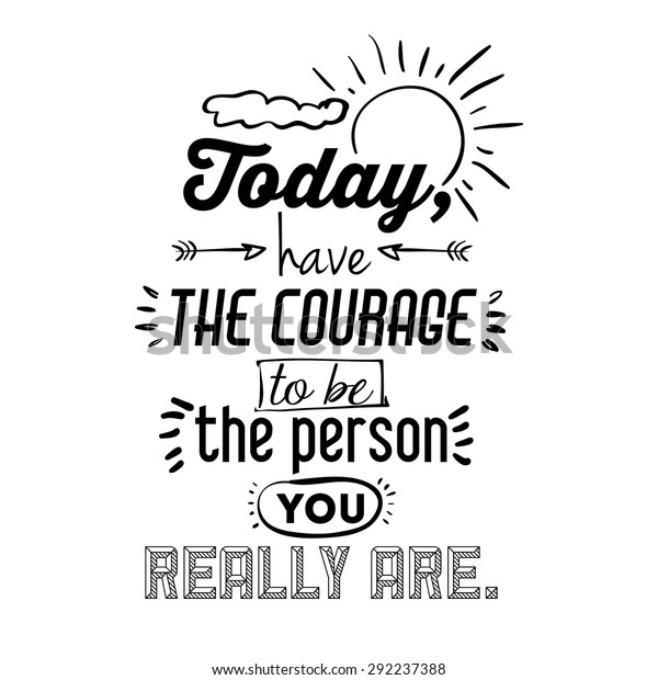 Encourage Quotes Design Over White Background Stock Vector ...