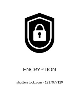 Encryption icon. Encryption symbol design from SEO collection. Simple element vector illustration on white background.