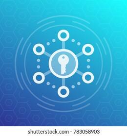 Encryption, secure access vector icon