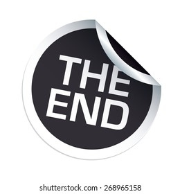 THE END black vector sticker
