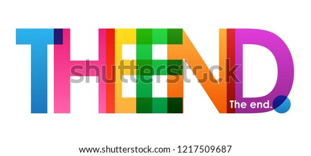end colorful letters banner stock vector royalty free 1217509687