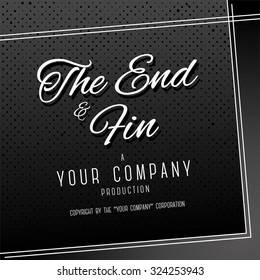 """End Credits - """"The End"""" Title Vector Background"""