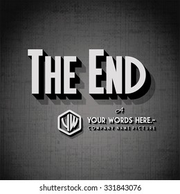"End Credits - ""The End"" Title Vector Background"