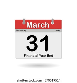 the end of the fiscal year March 31, 2016