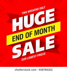 End of Month Huge Sale banner template