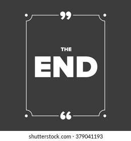 The End - Movie ending screen