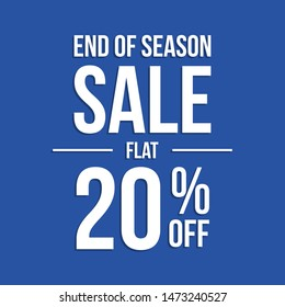 End of season discount sale banner.