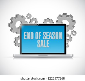 End of season sale, computer message illustration isolated over a white background