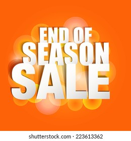 End Season Sale Paper Folding Design