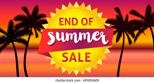End of summer sale banner design template.