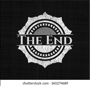 The End written with chalkboard texture