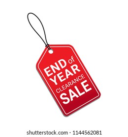End of year clearance sale red tag