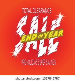 End of year sale banner. Sale banner template design.editable text