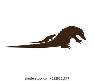 Endangered Pangolin Silhouette