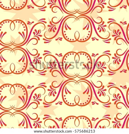 Endless Abstract Pattern Background Texture Vector Stock Vector