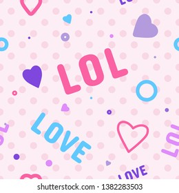 Endless background with circles. Cute romantic pink vector background in LOL doll surprise style. Decor for children's birthday, girls party, gift wrapping