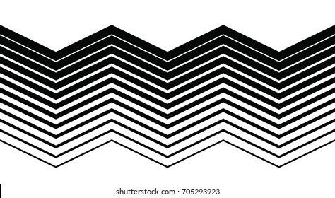 Endless halftone lines gradient, abstract background texture, retro style, black and white vector graphic