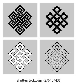 7758d4ae8 The Endless Knot. Sacred symbol of the rebirth's concatenation in the  Buddhism. Angular version