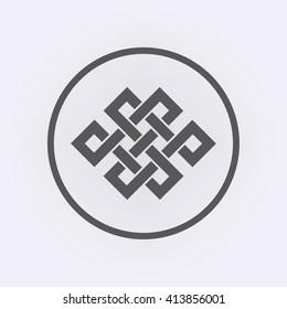 06609cb16 Endless Knot Tibet, Eternal , Buddhism and Spirituality . Vector  illustration