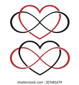 Endless love tattoo vector