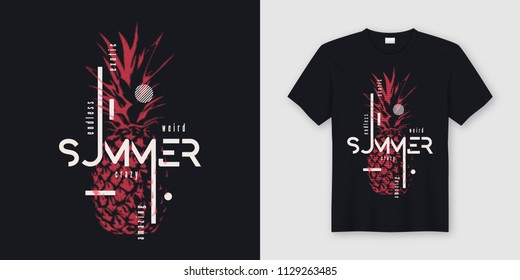 3384b02e258 Endless summer t-shirt and apparel modern design with styled pineapple