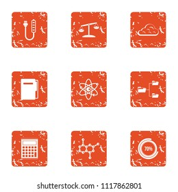 Endorphin icons set. Grunge set of 9 endorphin vector icons for web isolated on white background